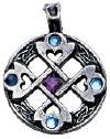 Celtic Cross Hearth Pendant