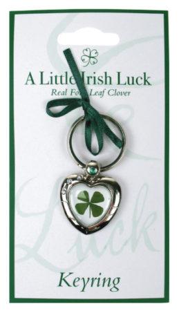 heart shamrock keychain