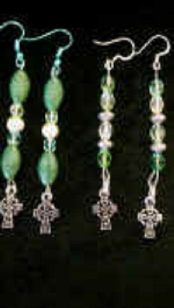 celtic cross beaded