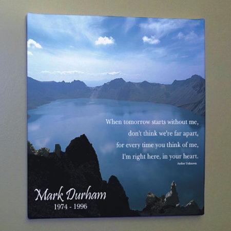 Memorial canvas