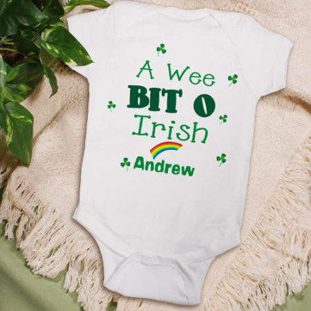 Irish personalized onsie