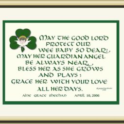 Irish Baby Blessing Print