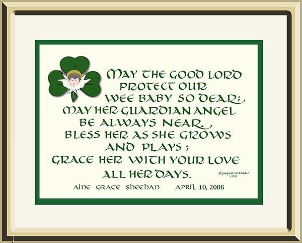 Irish Baby Blessing Print