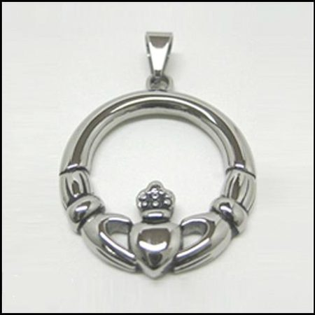Stainless Claddagh Pendant