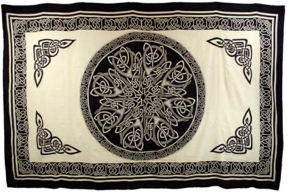 White celtic knot tapestry
