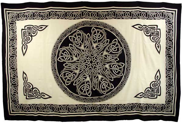 White celtic knot tapestry