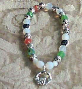 Claddagh Beaded Bracelet