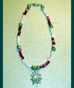 Thistle Beaded Anklets