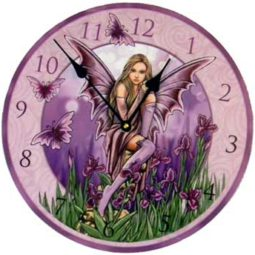 Purple Fairy wall clock