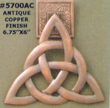 Copper trinity doorknocker