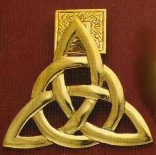 Brass trinity doorknocker