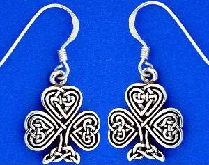 shamrock knotwork earrings