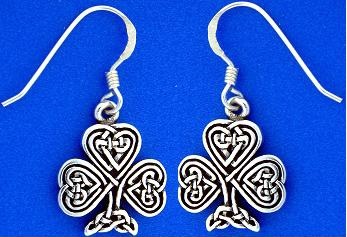 shamrock knotwork earrings