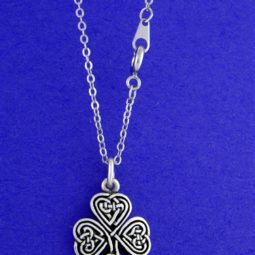 shamrock knotwork necklace