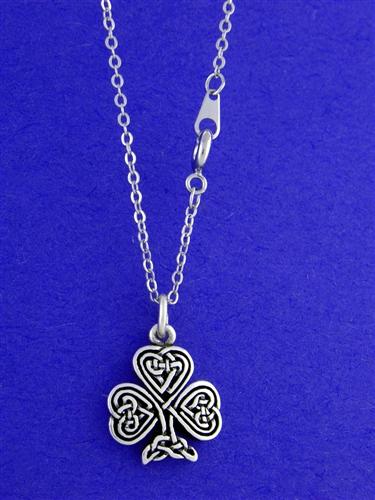 shamrock knotwork necklace