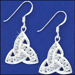 triquetra cz earrings