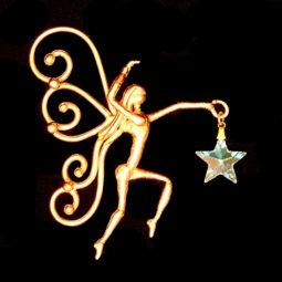 bronze fairy suncatcher