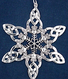 Celtic Snowflake Ornament