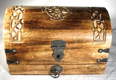 Celtic cross treasure box