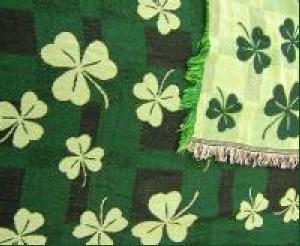 multi shamrock throw