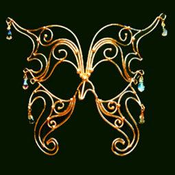 bronze butterfly mask