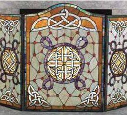 celtic fireplace screen