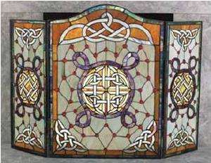 Celtic Stained Glass Fire Screen Celtic Attic
