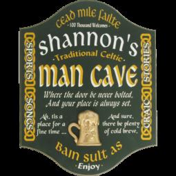 irish man cave sign