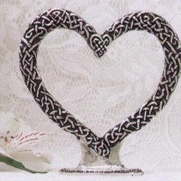 pewter heart topper