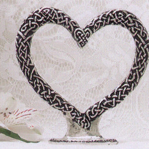 pewter heart topper