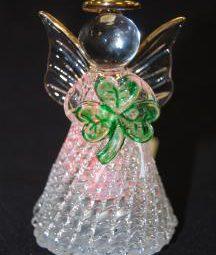 shamrock angel ornament
