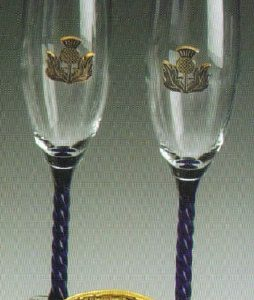 thistle wedding flutes