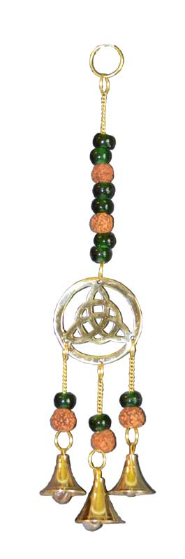triquetra green beads