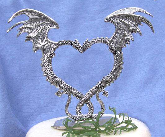Heart Dragon Cake Topper