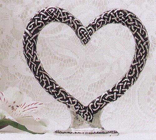 Celtic Heart Cake Topper