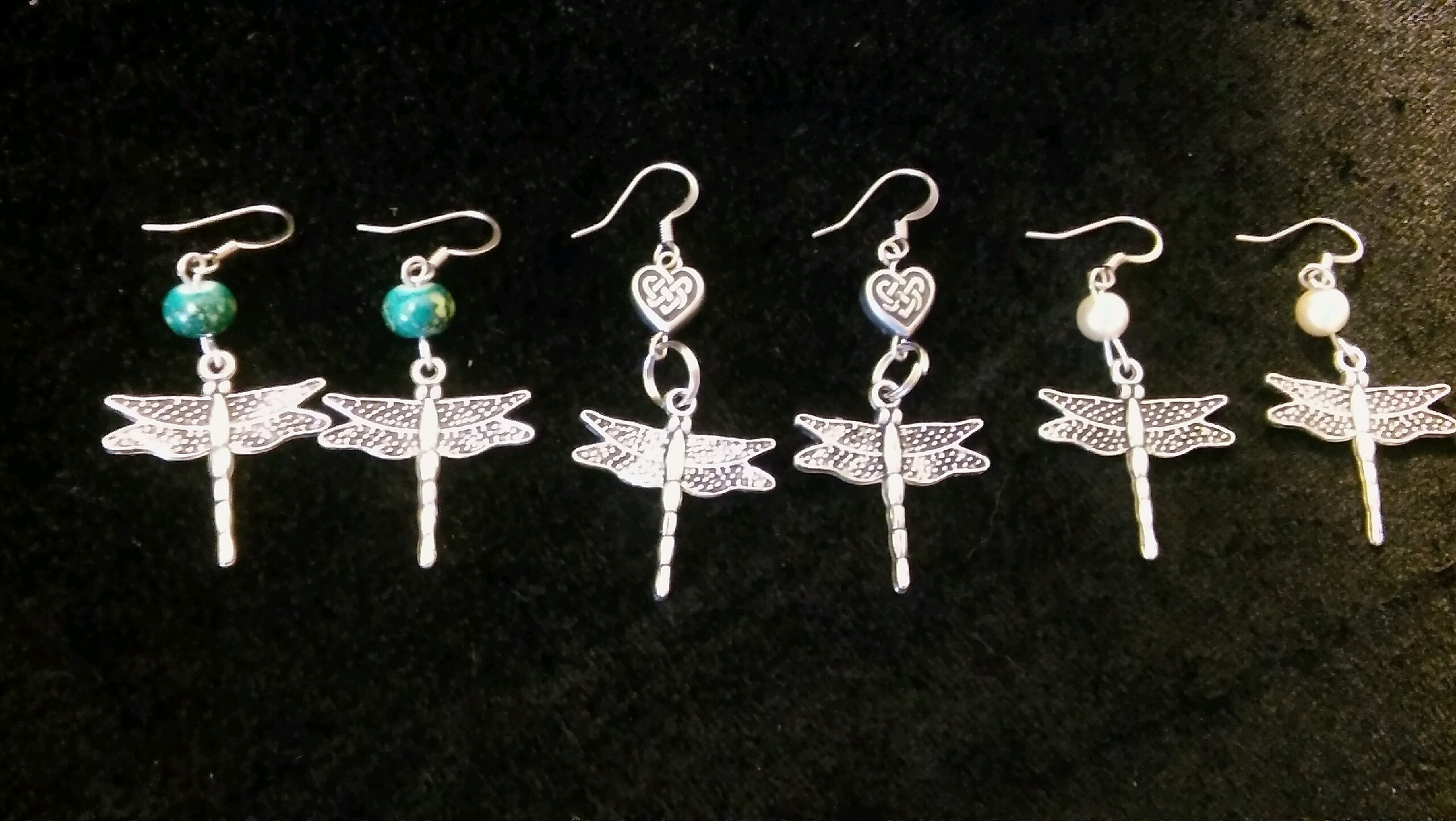 Beaded Dragonfly Earrings