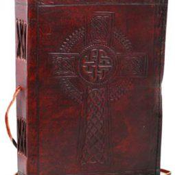 Celtic Cross Leather Journal