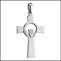 Stainless Steel Claddagh Cross