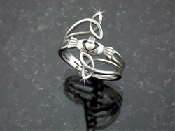 Stainless Trinity Claddagh Knot Ring