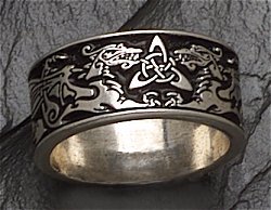 celtic ring dragon wide