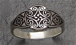 celtic goddess ring