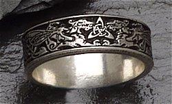 Celtic Dragon Ring Narrow