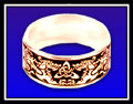 Gold dragon ring wide