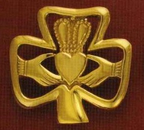 Shamrock claddagh doorknocker