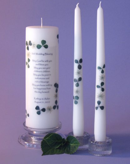 Irish 2 Corner Unity Candle Set