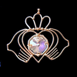 bronze claddagh suncatcher