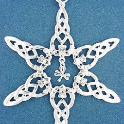 Cladagh Shamrock Ornament