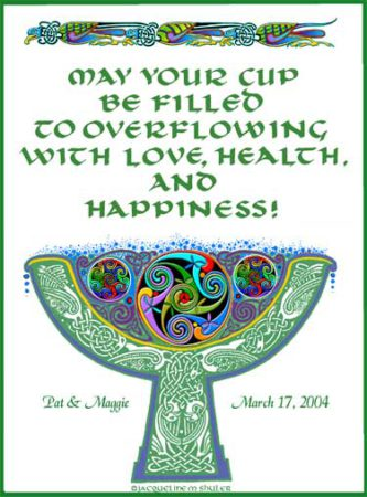 wedding blessing cup print