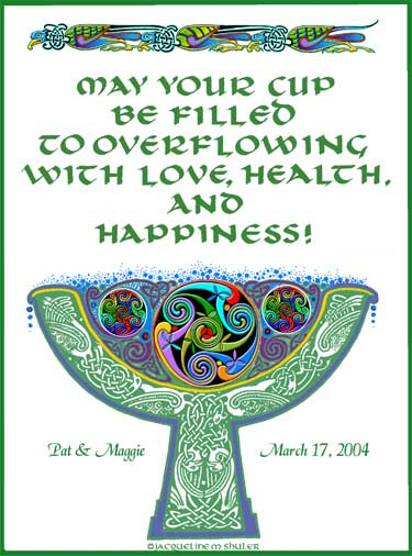 Blessing Cup Print Celtic Attic