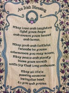 claddagh blessing throw